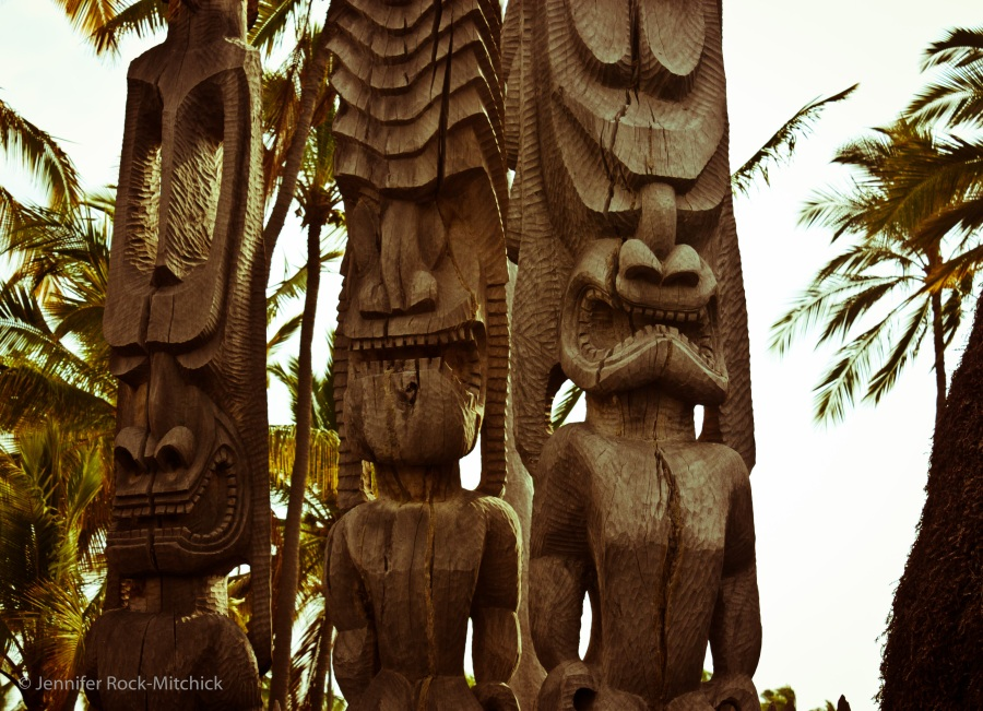 Three Tikis